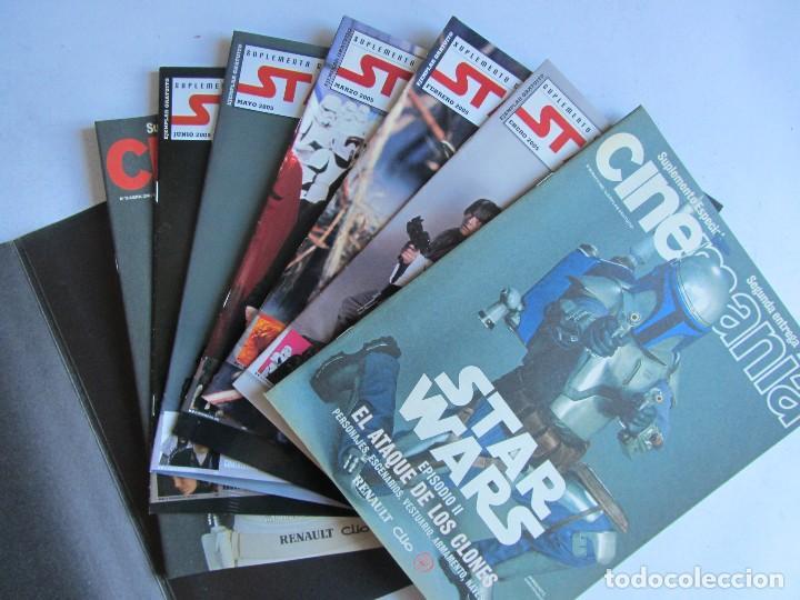 CINEMANÍA.LOTE STAR WARS COLECCIONABLE + NÚMS. 80, 116, 117 (PORTADA HOLOGRAMA) +SUPLEMENTOS 79 -80 (Cine - Revistas - Cinemanía)