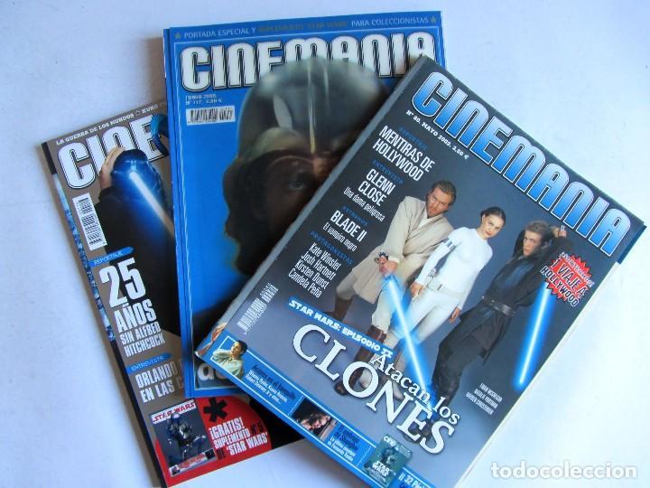 Cine: CINEMANÍA.LOTE STAR WARS COLECCIONABLE + NÚMS. 80, 116, 117 (PORTADA HOLOGRAMA) +SUPLEMENTOS 79 -80 - Foto 3 - 110893515
