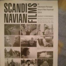 Cine: FOLLETO CORTOMETRAJES -SCANDINAVIAN FILMS -AÑO 2011 -EN INGLES. Lote 111530103