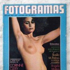 Cine: FOTOGRAMAS - Nº 1459 - 1976 - CORINNE CLÉRY, ÁNGELA MOLINA, PAULA PATTIER, CLINT EASTWOOD. Lote 111566383