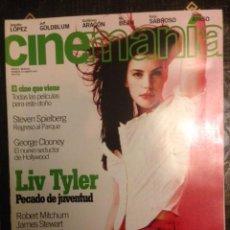 Cine: REVISTA CINEMANIA Nº 23 AGOSTO 1997 - LIV TYLER - STEVEN SPIELBERG - GEORGE CLOONEY. Lote 111638423