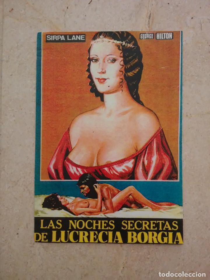 REPRODUCCION -10*15- LAS NOCHES SECRETAS DE LUCRECIA BORGIA - ALBUM - CLASIFICADA S (Cine - Reproducciones de carteles, folletos...)