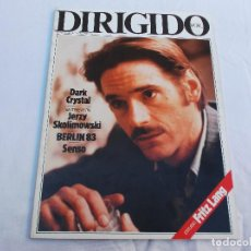 Cine: DIRIGIDO POR... Nº 102: DARK CRYSTAL. JERZY SKOLIWSKI. ALBERT WHITLOCK. FRITZ LANG. BERLIN 83. SENSO. Lote 287672903