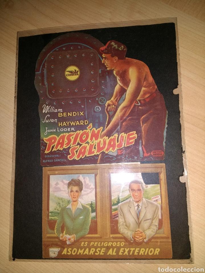 5 PROGRAMAS DE CINE TROQUELADOS (Cine - Reproducciones de carteles, folletos...)