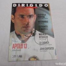 Cine: DIRIGIDO POR... Nº 238: APOLO 13. JOHN CARPENTER. MAS ALLA DE RANGUN. LOS PUENTES DE MADISON. WATERW. Lote 219271953