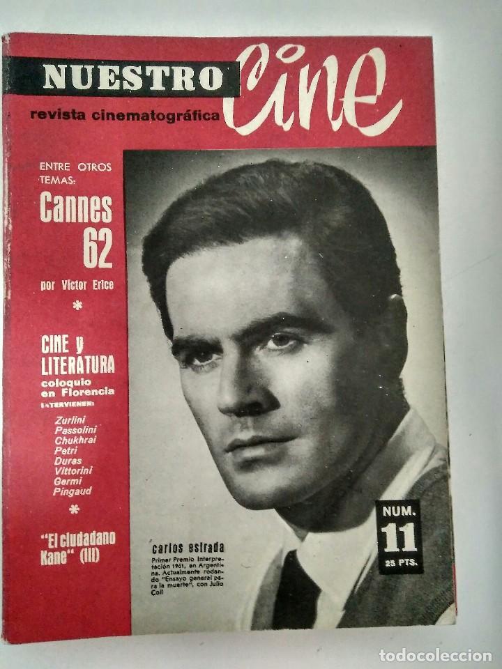 REVISTA NUESTRO CINE Nª 11.- MAYO 1962 (Cine - Revistas - Otros)