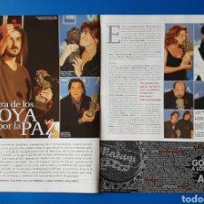 Cine: GOYA 2002 - FERNANDO LEÓN DE ARANOA. LOS LUNES AL SOL - RECORTE FOTOGRAMAS. Lote 113115870