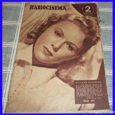 Cine: RADIOCINEMA 1954 N.º 217 KIRK DOUGLAS SUSANA CANALES ROBERT TAYLOR CON IMÁGENES CONCHA VASCA. Lote 113121467