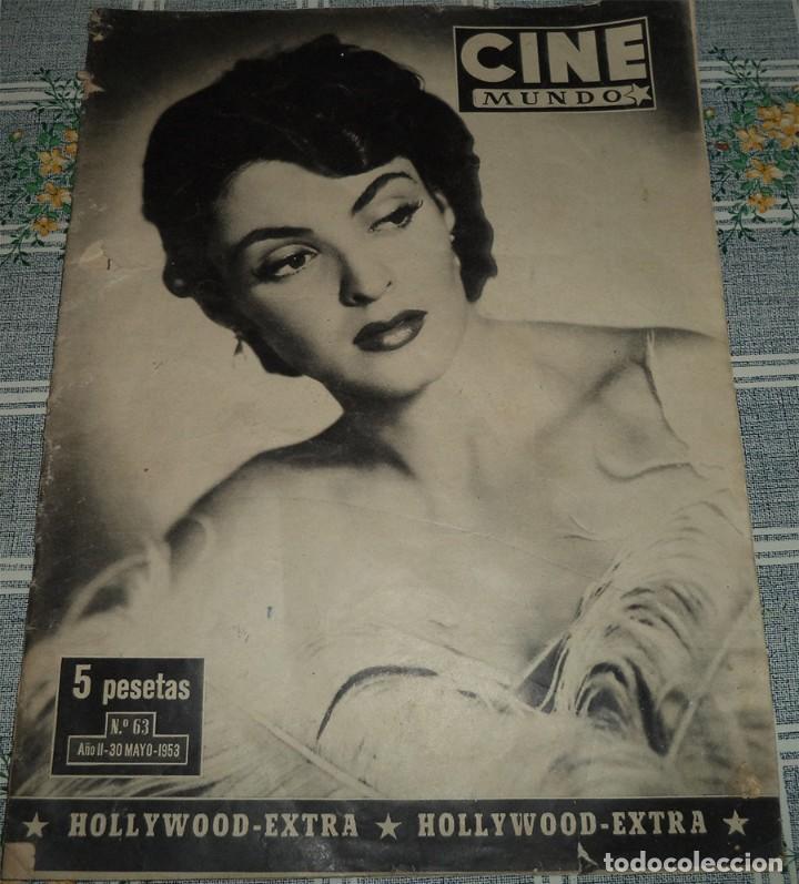 Cine: CINE MUNDO 3 REVISTAS GINA LOLLOBRIGIDA AMPARITO RIVELLES JOHN HUSTON FUTBOL VALENCIA CAMPEON - Foto 3 - 113121967