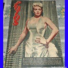Cine: REVISTA FOTOS 1950 N.º 672 LANA TURNER RITA HAYWORTH EVA GADNER . Lote 113122167