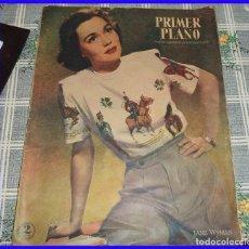 Cine: PRIMER PLANO 1947 N.º 376 LANA TURNER SHIRLEY TEMPLE JEAN SIMMONS GILDA ANAN TOOD. Lote 113122411