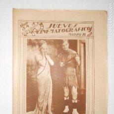 Cine: REVISTA JUEVES CINEMATOGRÁFICOS Nº 54 DEL 15 MARZO 1928 - FOTOS DE TODAS LAS PÁGINAS -. Lote 113311095