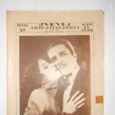 Cine: REVISTA JUEVES CINEMATOGRÁFICOS Nº 56 DEL 29 MARZO 1928 - FOTOS DE TODAS LAS PÁGINAS -. Lote 113311211