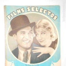 Cine: FILMS SELECTOS Nº 122 - 11 -2 - 1933 - PORTADA GRETA NISSEN Y VICTOR MAC LEGLEN - 22 PÁG.- VER FOTOS. Lote 113333451