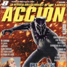 Cine: ACCION N. 1802 FEBRERO 2018 - EN PORTADA: BLACK PANTHER (NUEVA). Lote 113981974