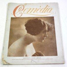 Cine: COMEDIA, NUM. 1. REDACCIÓN: BARCELONA. 21 PAG. 24,5X32 CM. RARA REVISTA DE CINE 1920'S.. Lote 113509127