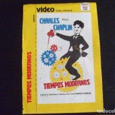 Cine: CINE-CARATULAS-V40-TIEMPOS MODERNOS-CHARLES CHAPLIN. Lote 113587979
