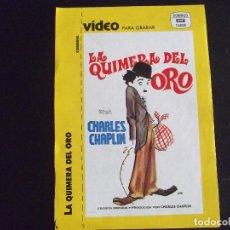 Cine: CINE-CARATULAS-V40-LA QUIMERA DEL ORO-CHARLES CHAPLIN. Lote 113588791