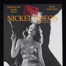 Cine: NICKEL ODEÓN. REVISTA TRIMESTRAL DE CINE. Nº 30. CINE Y HUMO - VV.AA.. Lote 113742103