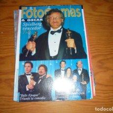Cine: FOTOGRAMAS & OSCAR Nº 1807, ABRIL 1994. STEVEN SPIELBERG VENCEDOR. Lote 114818907