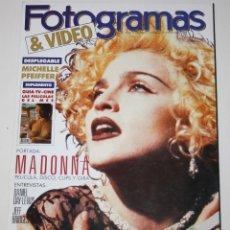 Cine: FOTOGRAMAS #1763 1990 MADONNA MICHELLE PFEIFFER DANIEL DAY-LEWIS JEFF BRIDGES MARILYN MONROE REVISTA. Lote 113817859