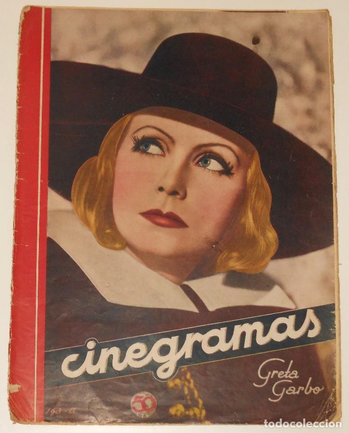 CINEGRAMAS #18 1935 GRETA GARBO CLAUDETTE COLBERT GINGER ROGERS CHARLES CHAPLIN REVISTA (Cine - Revistas - Cinegramas)