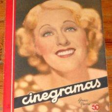 Cine: CINEGRAMAS #71 1936 GRACE MOORE MARLENE DIETRICH MYRNA LOY SPANISH MAGAZINE CINE REVISTA. Lote 113818859
