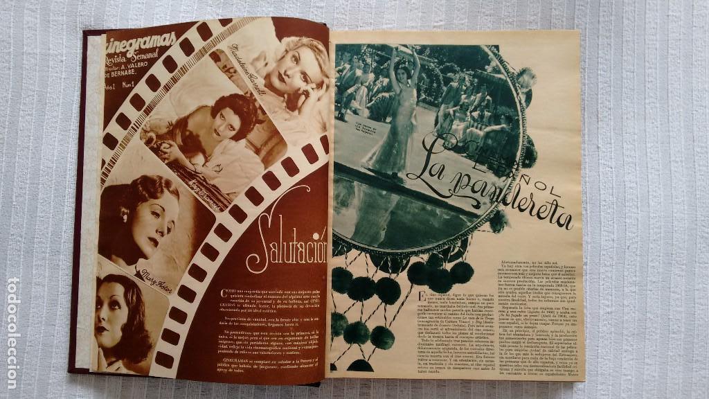Cine: CINEGRAMAS. COLECCIÓN COMPLETA DE 97 REVISTAS DE CINE. 4 VOLÚMENES. MADRID, 1934-36. - Foto 5 - 114564215