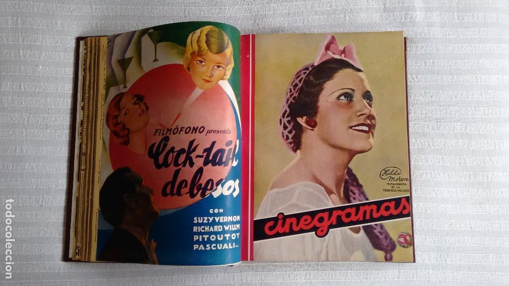 Cine: CINEGRAMAS. COLECCIÓN COMPLETA DE 97 REVISTAS DE CINE. 4 VOLÚMENES. MADRID, 1934-36. - Foto 6 - 114564215