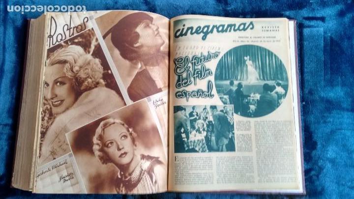 Cine: CINEGRAMAS. COLECCIÓN COMPLETA DE 97 REVISTAS DE CINE. 4 VOLÚMENES. MADRID, 1934-36. - Foto 15 - 114564215
