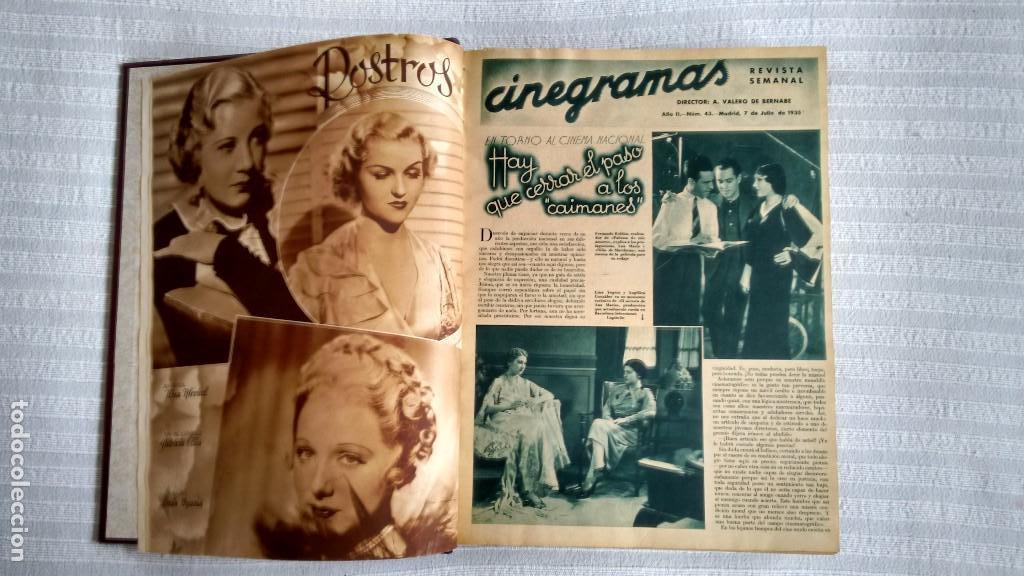 Cine: CINEGRAMAS. COLECCIÓN COMPLETA DE 97 REVISTAS DE CINE. 4 VOLÚMENES. MADRID, 1934-36. - Foto 17 - 114564215