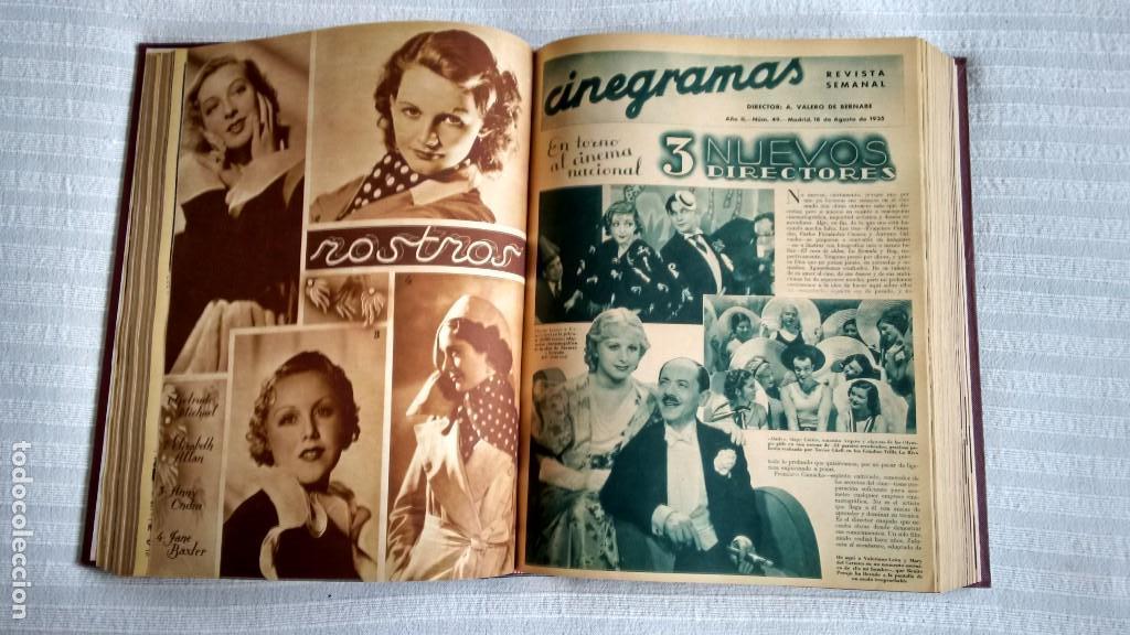 Cine: CINEGRAMAS. COLECCIÓN COMPLETA DE 97 REVISTAS DE CINE. 4 VOLÚMENES. MADRID, 1934-36. - Foto 21 - 114564215