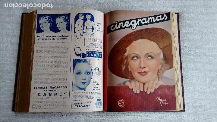 Cine: CINEGRAMAS. COLECCIÓN COMPLETA DE 97 REVISTAS DE CINE. 4 VOLÚMENES. MADRID, 1934-36. - Foto 23 - 114564215