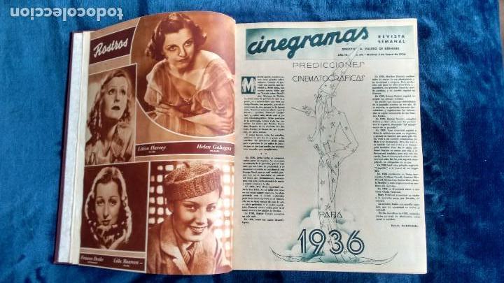 Cine: CINEGRAMAS. COLECCIÓN COMPLETA DE 97 REVISTAS DE CINE. 4 VOLÚMENES. MADRID, 1934-36. - Foto 25 - 114564215