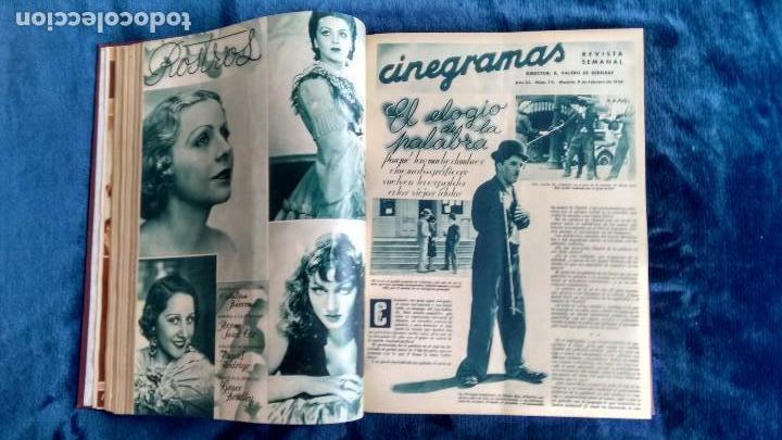 Cine: CINEGRAMAS. COLECCIÓN COMPLETA DE 97 REVISTAS DE CINE. 4 VOLÚMENES. MADRID, 1934-36. - Foto 27 - 114564215