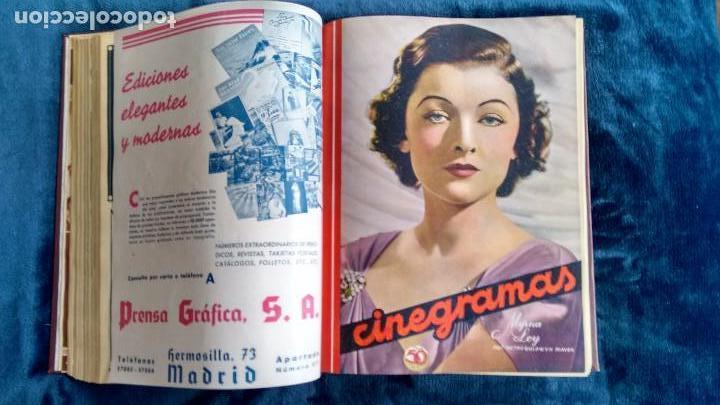 Cine: CINEGRAMAS. COLECCIÓN COMPLETA DE 97 REVISTAS DE CINE. 4 VOLÚMENES. MADRID, 1934-36. - Foto 28 - 114564215