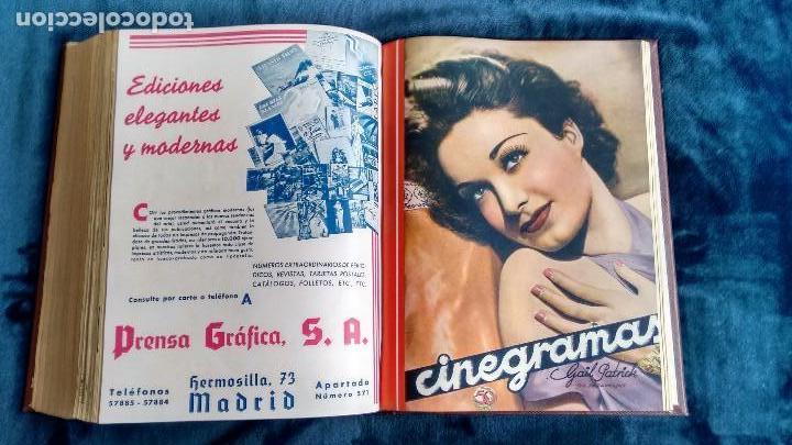 Cine: CINEGRAMAS. COLECCIÓN COMPLETA DE 97 REVISTAS DE CINE. 4 VOLÚMENES. MADRID, 1934-36. - Foto 34 - 114564215
