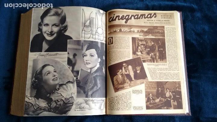 Cine: CINEGRAMAS. COLECCIÓN COMPLETA DE 97 REVISTAS DE CINE. 4 VOLÚMENES. MADRID, 1934-36. - Foto 35 - 114564215