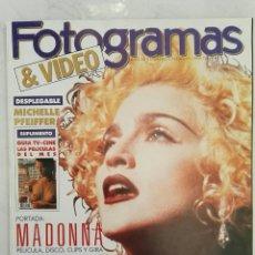 Cine: REVISTA FOTOGRAMAS MAYO 1990 MADONNA. Lote 114572566