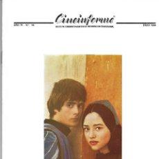 Cine: CINEINFORME, Nº 70. JULIO 1.968. ROMEO Y JULIETA, DE FRANCO ZEFFIRELLI.. Lote 114692011