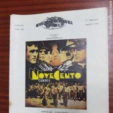 Cine: REVISTA CINE - CINEMATOGRAFICA ESPAÑOLA - NOVECENTO - Nº - 291 - MARZO 1978 - TDKR19. Lote 115304544