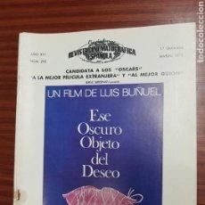 Cine: REVISTA CINE - CINEMATOGRAFICA ESPAÑOLA - ESE OSCURO OBJETO DEL DESEO Nº - 290 - MARZO 1978 - TDKR19. Lote 115304679
