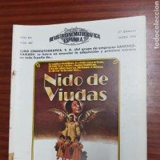 Cine: REVISTA CINE - CINEMATOGRAFICA ESPAÑOLA - NIDO DE VIUDAS - Nº - 287 - ENERO 1978 - TDKR19. Lote 115305651