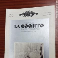Cine: REVISTA CINE - CINEMATOGRAFICA ESPAÑOLA - LA COQUITO - Nº - 285 - DICIEMBRE 1977 - TDKR19. Lote 115305962