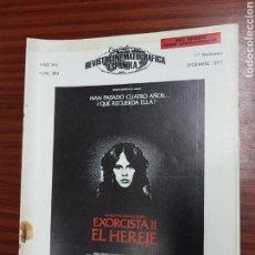 Cine: REVISTA CINE - CINEMATOGRAFICA ESPAÑOLA - EXORCISTA II EL HEREJE - Nº - 284 - DICIEMBRE 1977- TDKR19. Lote 115306143