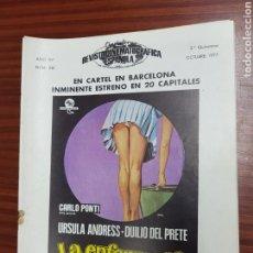 Cine: REVISTA CINE - CINEMATOGRAFICA ESPAÑOLA - LA ENFERMERA - Nº - 281 - NOVIEMBRE 1977 - TDKR19. Lote 115307435