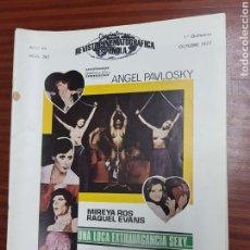 Cine: REVISTA CINE - CINEMATOGRAFICA ESPAÑOLA - LOCA EXTRAVAGANCIA SEXY - Nº - 280 - OCTUBRE 1977 - TDKR19. Lote 115307590