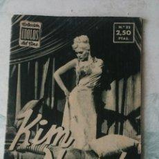 Cine: COLECCIÓN ÍDOLOS DEL CINE. NÚMERO 22: KIM NOVAK (1958. 28 PÁGINAS) . Lote 115754199