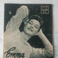 Cine: COLECCIÓN IDOLOS DEL CINE. NÚMERO 24: EMMA PENELLA. 28 PÁGINAS (1958). Lote 115754227