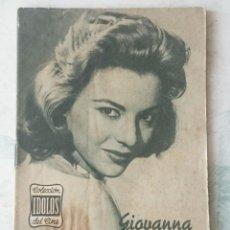 Cine: COLECCIÓN IDOLOS DEL CINE. NÚMERO 93: GIOVANNA RALLI (1958. 28 PÁGINAS) . Lote 116048111